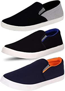 Ethics Lite Mens Multicolored Synthetic Loafers Shoes for Men Casual Styish Combo Pack of 3
