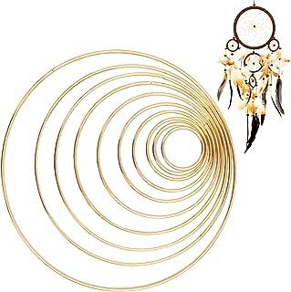 Acchiappasogni in metallo macram/è cerchio rotondo in ferro per artigianato Natale accessori decorazione da parete 45 mm progetti di bricolage ornamenti per matrimonio HEALLILY foto