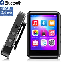 $39 Get MP3Player, MP3 Player with Bluetooth, 16GB Portable Music Player with FM Radio/Recorder, HiFi Lossless Sound Quality, 2.4Inch Touch Screen Mini MP3 Player for Running, Expandable 128GB TF Card, Black