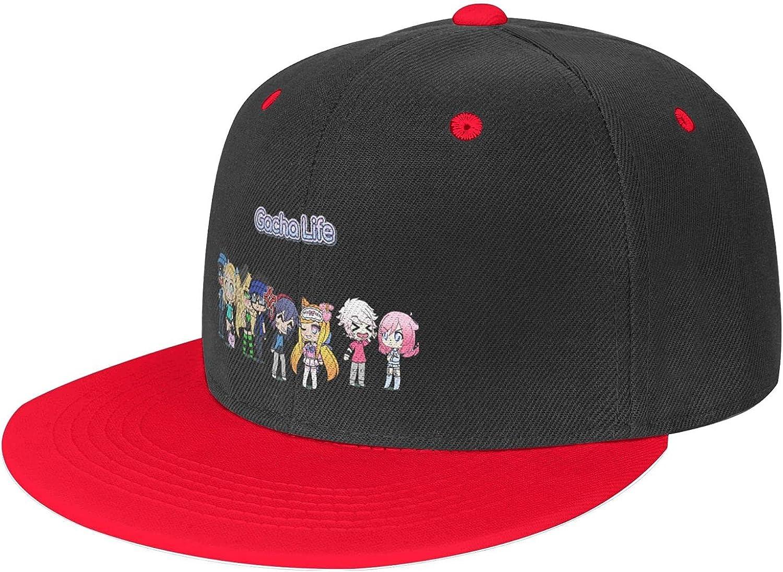 Crottsmills Baseball Caps Atsh Gacha Life Solid Flat Bill Adjustable Snapback Trucker Hat Unisex