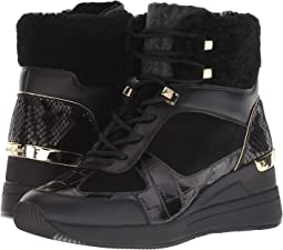 Black Sport Suede/Embossed Croc/Curly Shearling/Black Outsole