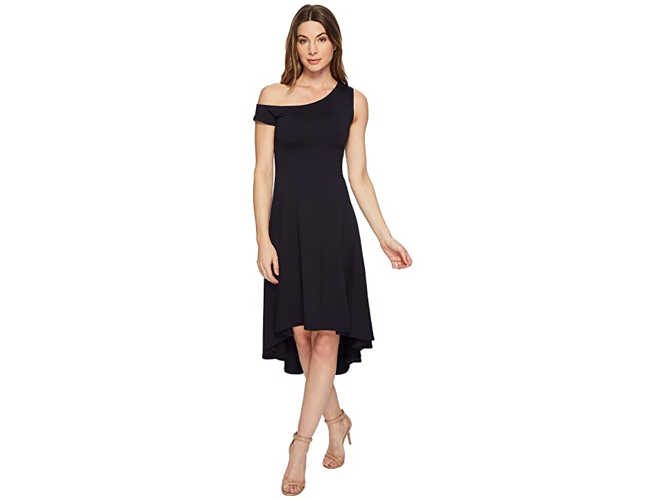 Susana Monaco Elsa Off Shoulder Dress (Midnight) Women