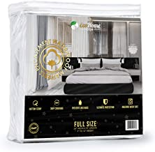 Waterproof Mattress Encasement Cover Full Size Soft, Breathable Cotton Terry Fabric | Helps Prevent Bed Bugs, Dust Mites, Bacteria, Allergens | Repels Urine and Liquids | Ultra-Quiet