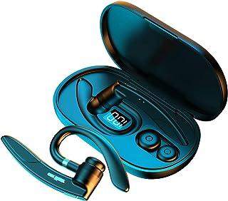 LauVery Auricular Bluetooth V5.0, 10 Hrs HD Talktime Cancelación de Ruido de micrófono Dual, Auricular Bluetooth Manos Lib...