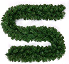 BullStar 9 Feet Christmas Decorations Christmas Garland Artificial Wreath with Berries and Pinecones Xmas Decorations for ...