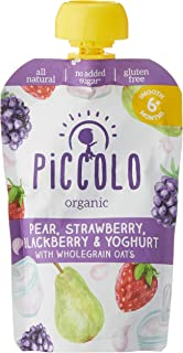 Piccolo Pear Strawberry & Yoghurt with Oats, Multicolour, Small, 5count