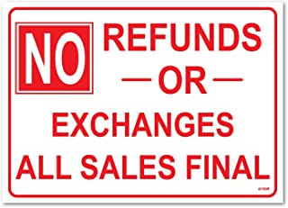 NO REFUNDS OR EXCHANGES ALL SALES FINAL 10