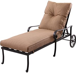 K&B PATIO LD600-9 Santa Anita Chaise Lounge, Antique Bronze