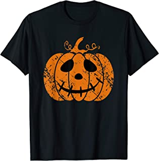 Vintage Halloween Pumpkin Face Jack-O-Lantern Cute Costume T-Shirt