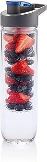 Hans Larsen 800ml Fruit Infuser Water Bottle BPA-Free Fruit Infusion Sports Bottle - Flip Top Lid, Made of Durable Tritan ...