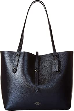 Metallic Leather Market Tote