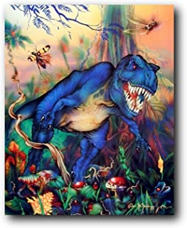 T Rex Dinosaur Triceratops Kids Room Animal Wall Decor Art Print Poster (16x20)