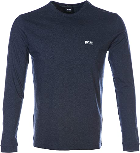 BOSS Togn manche longue T Shirt in Navy Melange