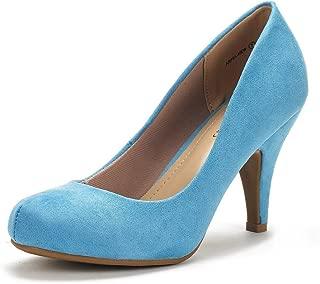 DREAM PAIRS Arpel Women's Formal Evening Dance Rhinestones Classic Low Heel Pumps Shoes New