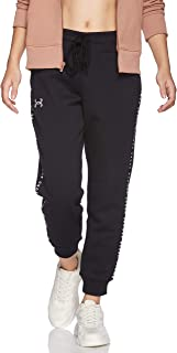 Under Armour Women's Originators Fleece Jogger Pants, Black (Black/White), Medium