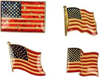 American Flag 4 Piece Metal Pin Set