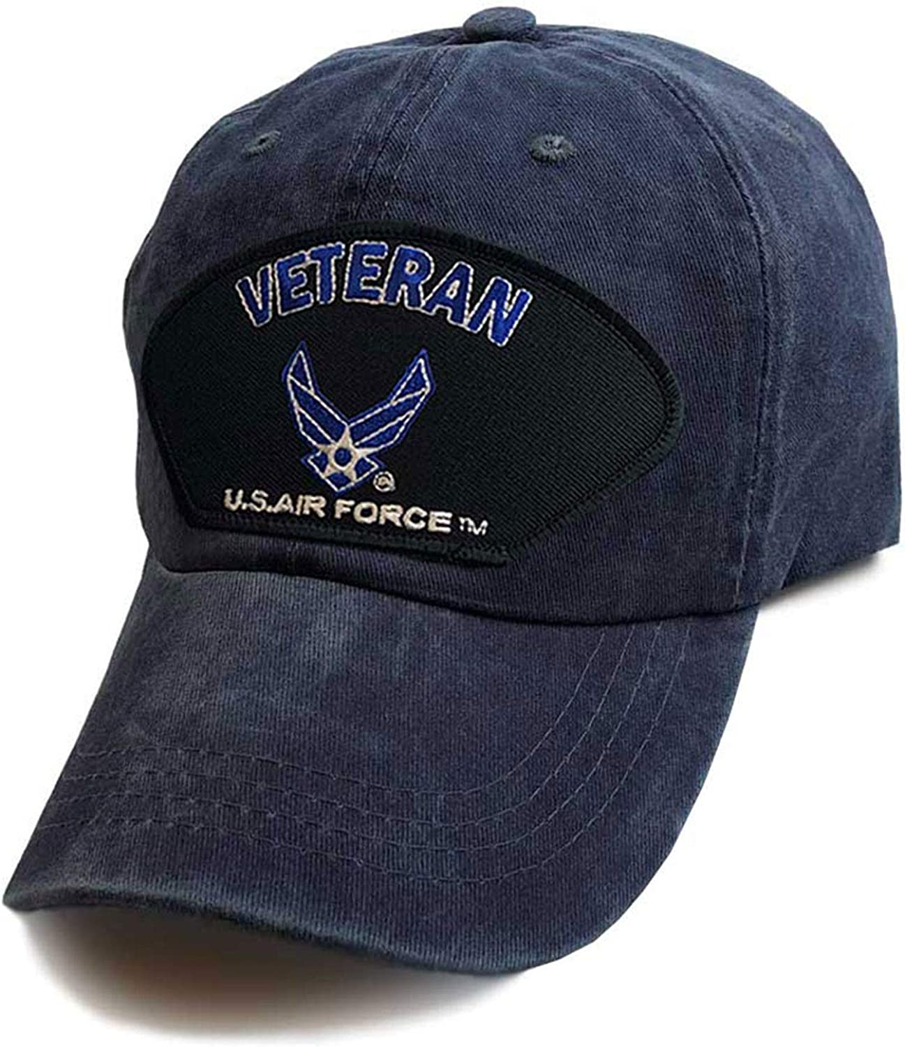 US Air Force Veteran Gorgeous Wings Logo Baseball Patch Blue Hat Vintage Max 63% OFF