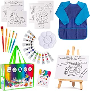 Kids Art Set - 27 Piece Water Color Paint Set for Kids, Art Supplies for Drawing, Painting, with Portable Storage Bag - Ma...
