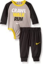 Nike Baby Boys' Long Sleeve Bodysuit and Joggers 2-Piece Outfit Set