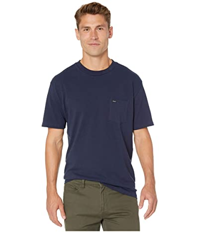 RVCA Day Shift Label Short Sleeve (Navy Marine) Men