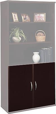 Bush Business Furniture Series C Half-Height 2 Door Kit in Mocha Cherry