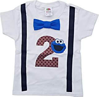 Perfect Pairz 2nd Birthday Shirt Boys Cookie Monster Tee