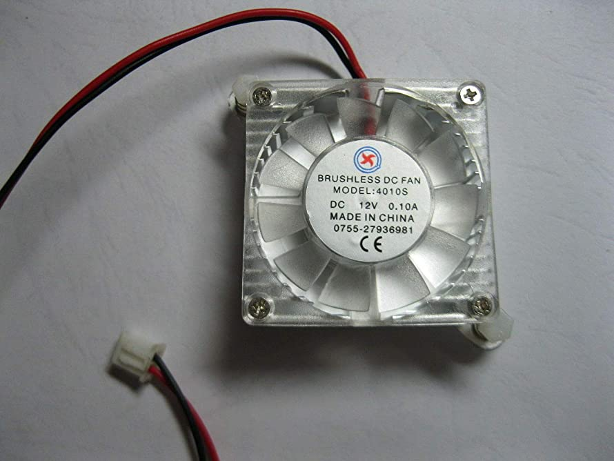 FidgetGear 4 pcs Brushless DC Cooling Fan 4010S 12V 11 Blade 40x40x10mm 2pin White Heatsink