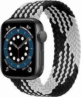 JONWIN Correa Solo Loop Trenzada Compatible con Apple Watch 38mm 40mm 42mm 44mm,Deportiva de Repuesto de Fibras de Silicon...