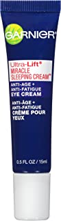 Garnier Ultra-Lift Miracle Sleeping Cream Anti-Age + Anti-Fatigue Eye Cream 0.50 oz (packaging may vary)