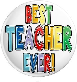 Grand badge à épingle – Cadeau enseignant – Cadeau de remerciement – Best Teacher Ever