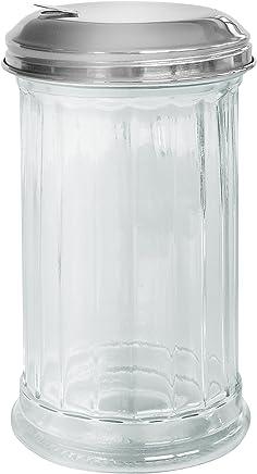 Preisvergleich für FACKELMANN Zuckerspender BISTRO, Zuckerstreuer aus Glas, Zuckerdosierer mit Edelstahl-Deckel (Farbe: Silber/Transparent), Menge: 1 Stück