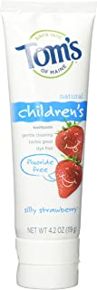 Tom's of Maine, Natural Flouride Free Toothpaste for Children, Silly Strawberry.4.2 oz