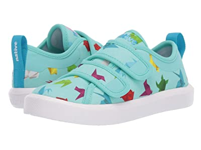 Native Kids Shoes Monaco HL Canvas (Toddler/Little Kid) (Hydrangea Blue/Shell White/Origami) Kid