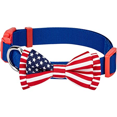 Blueberry Pet 6 Patterns Patriotic Spirits Flags Collection - American Flag, UK, France Bowtie Collars