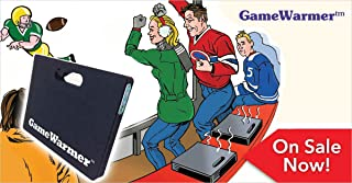 Giant BioGEAR GameWarmer: Rechargeable Battery Operated Heated Stadium Seat Cushion. Lasts Up To 5 Hours and Also Recharges Cell Phones.