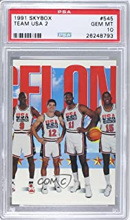 Team USA (Olympics) Team; Michael Jordan; John Stockton; Karl Malone; Magic Johnson PSA GRADED 10 Team USA (Olympics) Team (Basketball Card) 1991-92 Skybox - [Base] #545