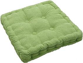 Almofadas de almofadas de cadeira de sofá quadrado, almofada de assento confortável para enchimento de algodão pérola gros...
