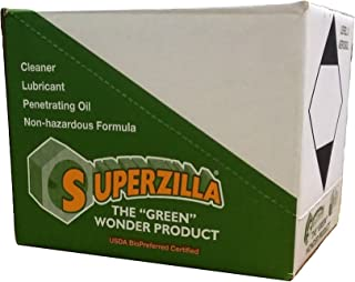"""Superzilla - Powerful All-Purpose Cleaner and Lubricator – """"The Green Wonder Product"""" – Case of Aerosol Cans"""