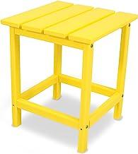 """POLYWOOD ECT18LE Long Island 18"""" Side Table, Lemon"""
