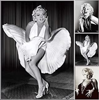 Marilyn Monroe White Dress 7 Year Itch 3D Poster Wall Art Decor Print | 11.8 x 15.7 | Lenticular Posters & Pictures | Photo Memorabilia Gifts for Guys & Girls Bedroom | Vintage & Iconic Movie Picture