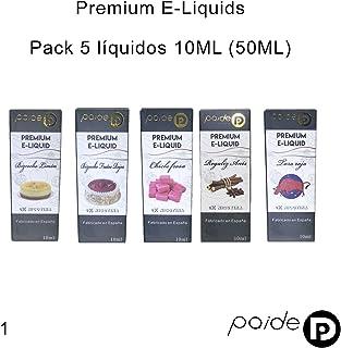 5 x 10ML Paide Premium E-Liquid - Sin nicotina - Líquido para cigarrillo electrónico