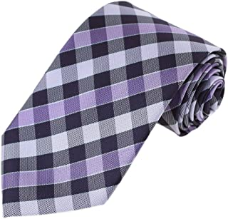 Epoint Men's Fashion Multicolor Microfiber Checkers Valentine's Day Tie