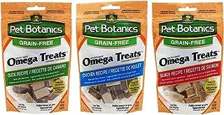 Pet Botanics Grain Free Omega Treats For Dogs 3 Flavor Variety Bundle: (1) Omega Treats Salmon Recipe, (1) Omega Treats With Real Chicken, and (1) Omega Treats With Real Duck, 3 Oz. Ea. (3 Bags Total)