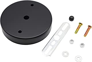 binifiMux 2-Pack Black Ceiling Plate Chassis Base Pendant Light Accessories 98mm x 18mm w Screw