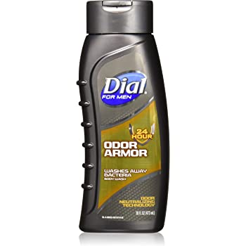 Amazon Com Dial For Men Antibacterial Body Wash 24 Hour Odor Armor 16 Fl Oz Pack Of 2 Beauty