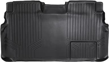 MAXLINER Floor Mats 2nd Row Liner Black for 2009-2014 Ford F-150 SuperCrew Cab