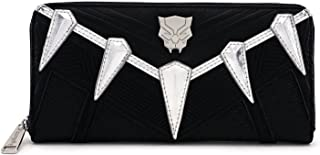 Black Panther Faux Leather Zip Around Wallet Standard