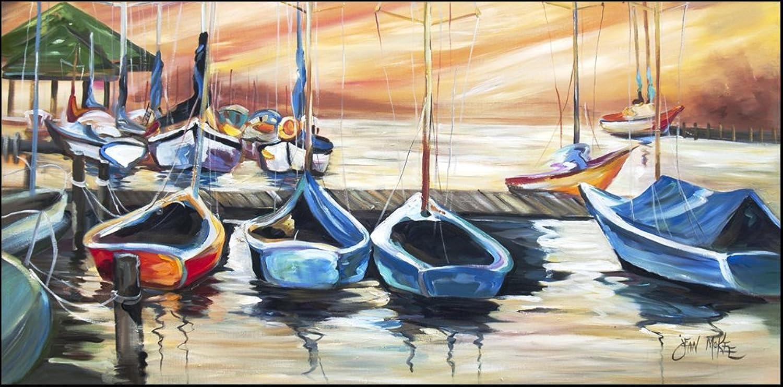 Carolines Treasures JMK1315HRM2858 Sailboats Boatview Warm Indoor & Outdoor Runner Mat& 44; 28 x 58 in.
