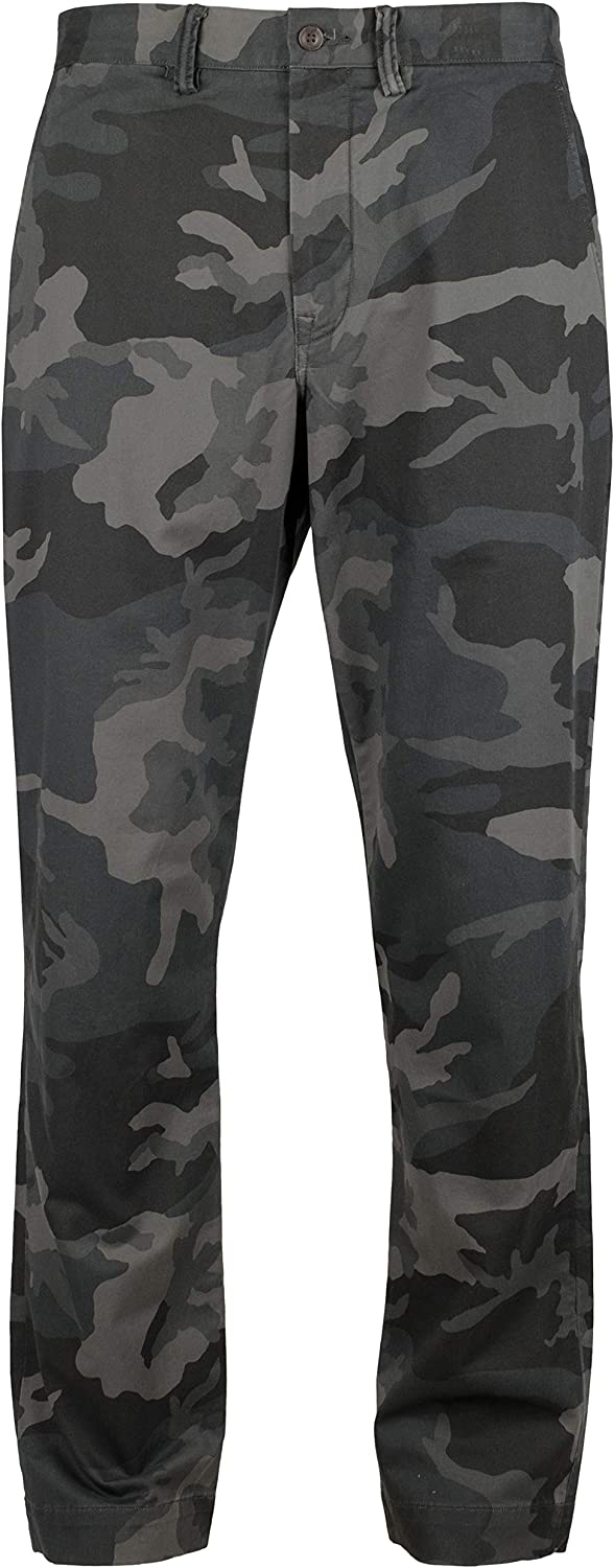 Men's Straight Stretch Fit Camo Chinos