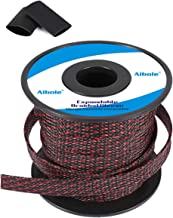 Sponsored Ad - Aibole 100Ft-1/2 Black&Red Cable Management Cord Protector Braided Wire Loom Braided Cable Sleeve for Telev...
